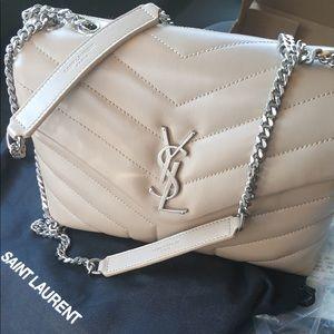 YSL small Lou Lou chain dark beige purse ❤️❤️